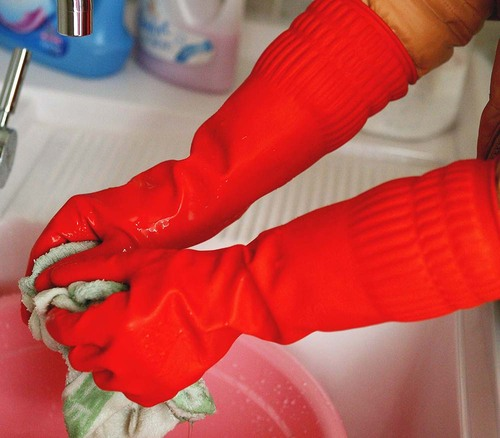 FE-NO.6028 Extra Long warm rubber glove