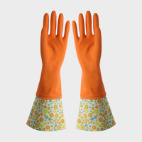 FE506 Cuff-lengthened Household Latex Gloves